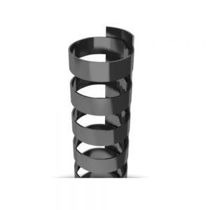 Black Plastic 19-Ring Combs