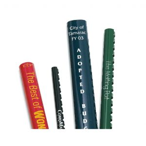Custom Imprinted Plastic Binding Combs