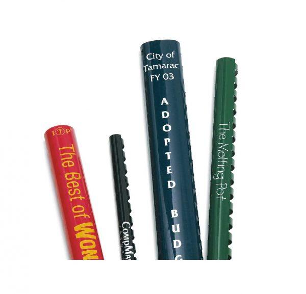 Custom Imprinted Plastic Binding Combs