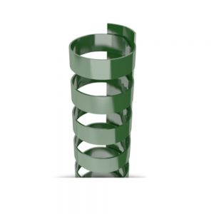 Forest Green Plastic 19-Ring Combs