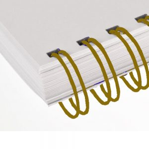 Gold Twin Loop Wire