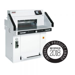 MBM VRCut Ready Triumph 5560/5560LT Automatic and Programmable Paper Stack Cutter