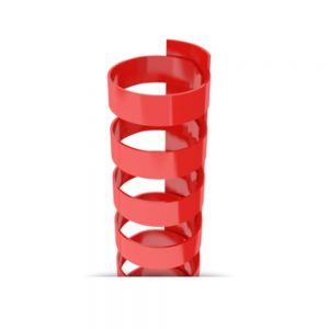 Red Plastic 19-Ring Combs