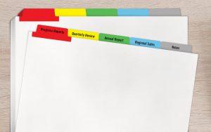 Colored Copier Tabs